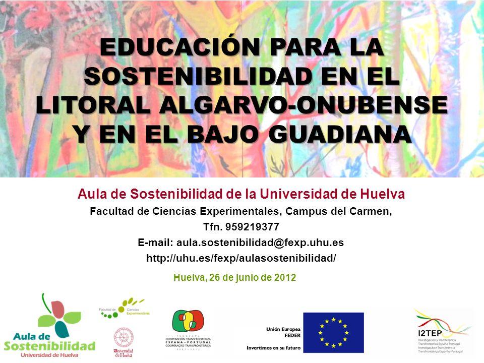 Aula de Sostenibilidad de la Universidad de Huelva Facultad de Ciencias Experimentales, Campus del Carmen, Tfn.