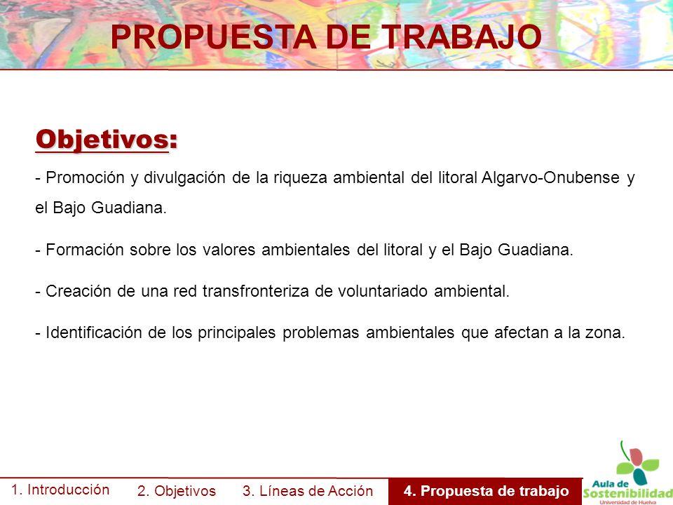 PROPUESTA DE TRABAJO 1. Introducción 2. Objetivos 3.