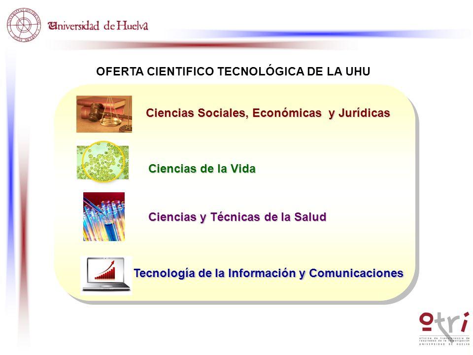 Ciencias Sociales, Económicas y Jurídicas Ciencias de la Vida Ciencias y Técnicas de la Salud Tecnología de la Información y Comunicaciones
