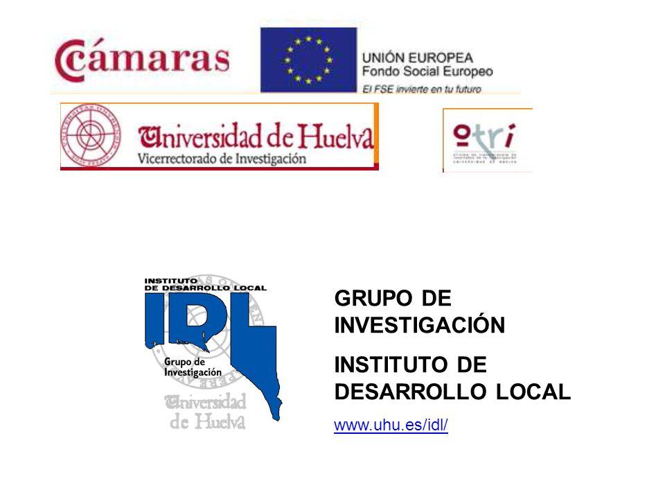 GRUPO DE INVESTIGACIÓN INSTITUTO DE DESARROLLO LOCAL www.uhu.es/idl/