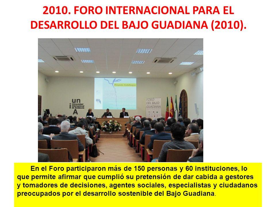 En el Foro participaron más de 150 personas y 60 instituciones, lo que permite afirmar que cumplió su pretensión de dar cabida a gestores y tomadores