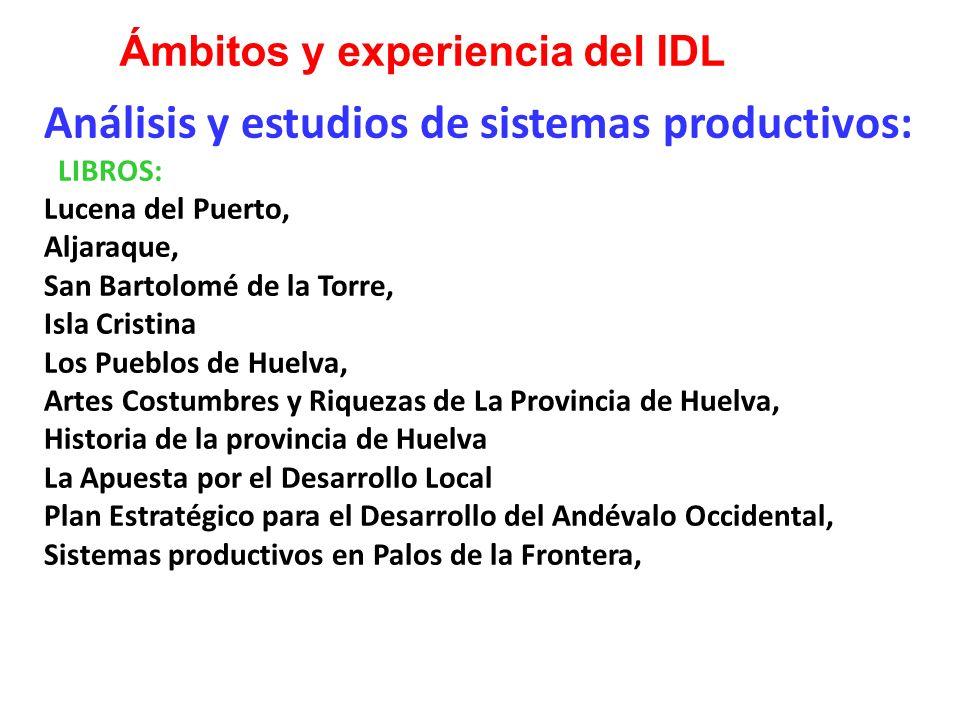 Análisis y estudios de sistemas productivos: LIBROS: Lucena del Puerto, Aljaraque, San Bartolomé de la Torre, Isla Cristina Los Pueblos de Huelva, Art