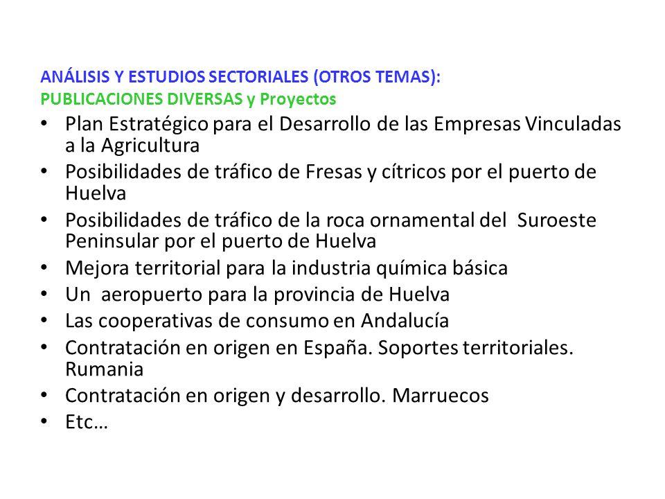 PUBLICACIONES DIVERSAS: 1996): El eje dinámico del litoral onubense-algarví , en La articulación territorial de la Raya hispano- portuguesa.