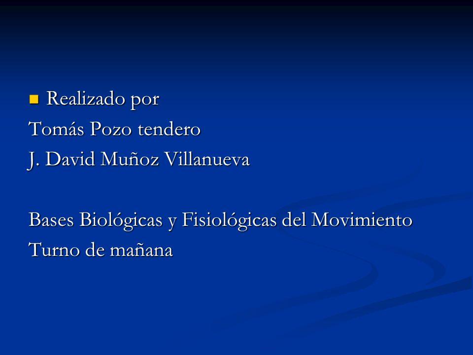 Realizado por Realizado por Tomás Pozo tendero J. David Muñoz Villanueva Bases Biológicas y Fisiológicas del Movimiento Turno de mañana