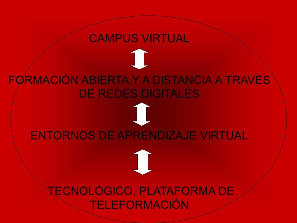 CAMPUS VIRTUAL FORMACIÓN ABIERTA Y A DISTANCIA A TRAVÉS DE REDES DIGITALES ENTORNOS DE APRENDIZAJE VIRTUAL TECNOLÓGICO, PLATAFORMA DE TELEFORMACIÓN