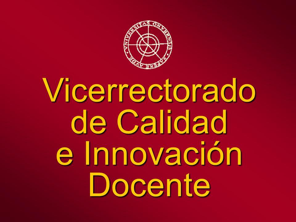Vicerrectorado de Calidad e Innovación Docente