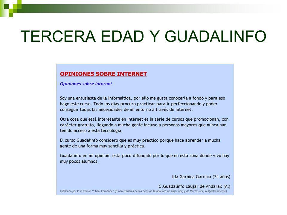 TERCERA EDAD Y GUADALINFO