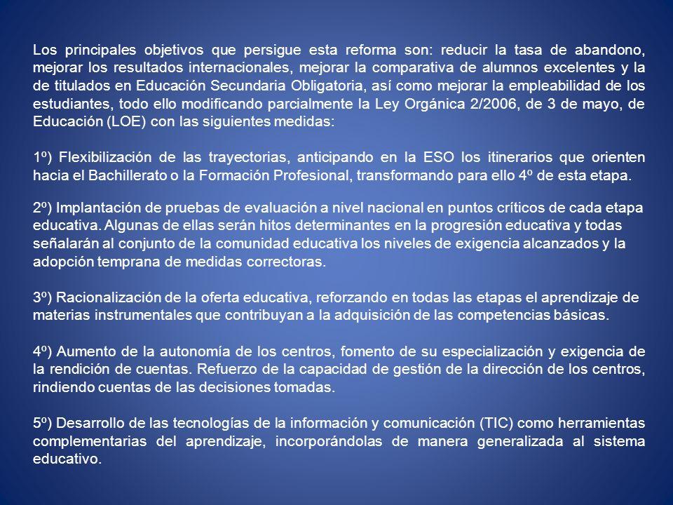 Estas evaluaciones generales (la de 3º y la de 4º) tendrán las siguientes características: a) Las características generales de la prueba y los criterios de evaluación serán fijados por el Gobierno para todo el sistema educativo Español.