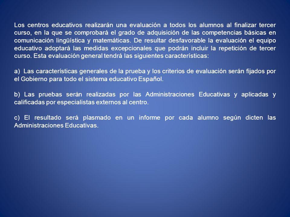 La etapa de Educación Secundaria Obligatoria.