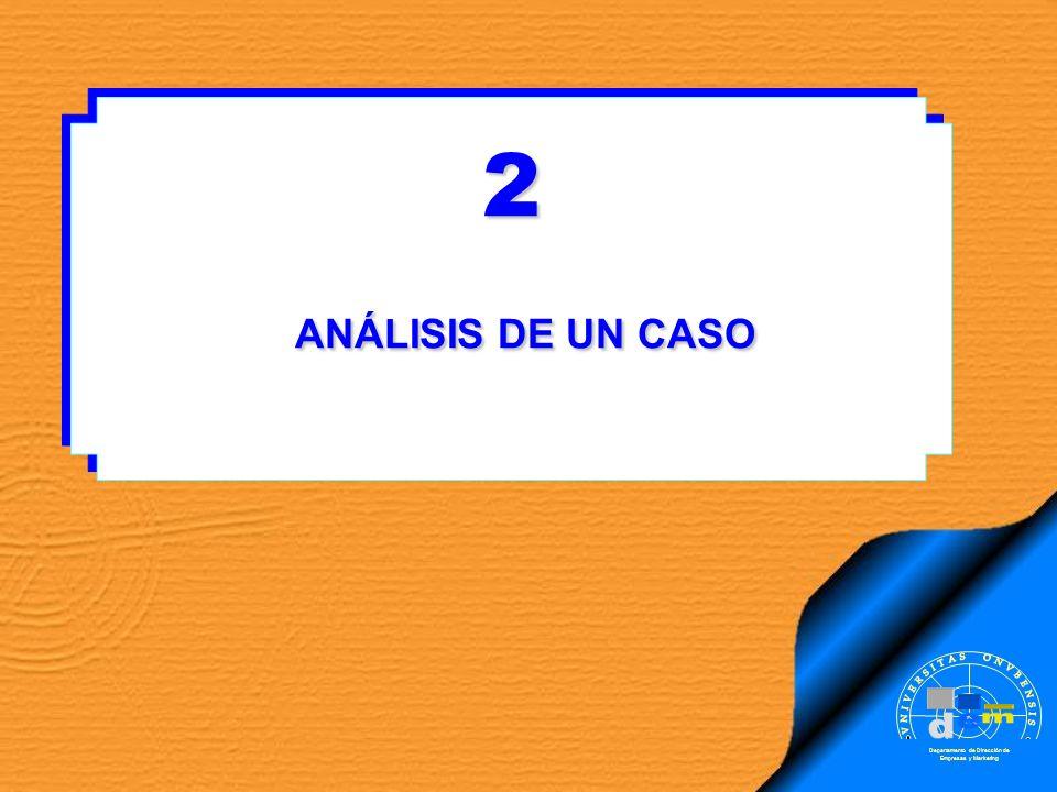 2 ANÁLISIS DE UN CASO ANÁLISIS DE UN CASO2 Departamento de Dirección de Empresas y Marketing