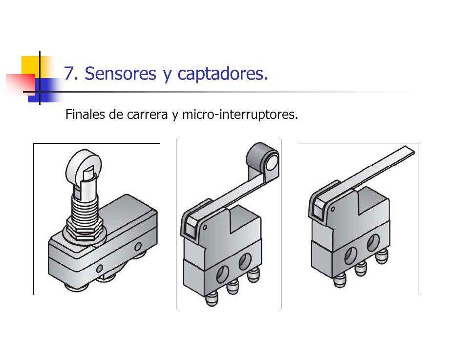 7. Sensores y captadores. Finales de carrera y micro-interruptores.