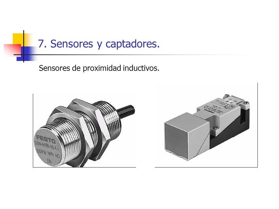 7. Sensores y captadores. Sensores de proximidad inductivos.
