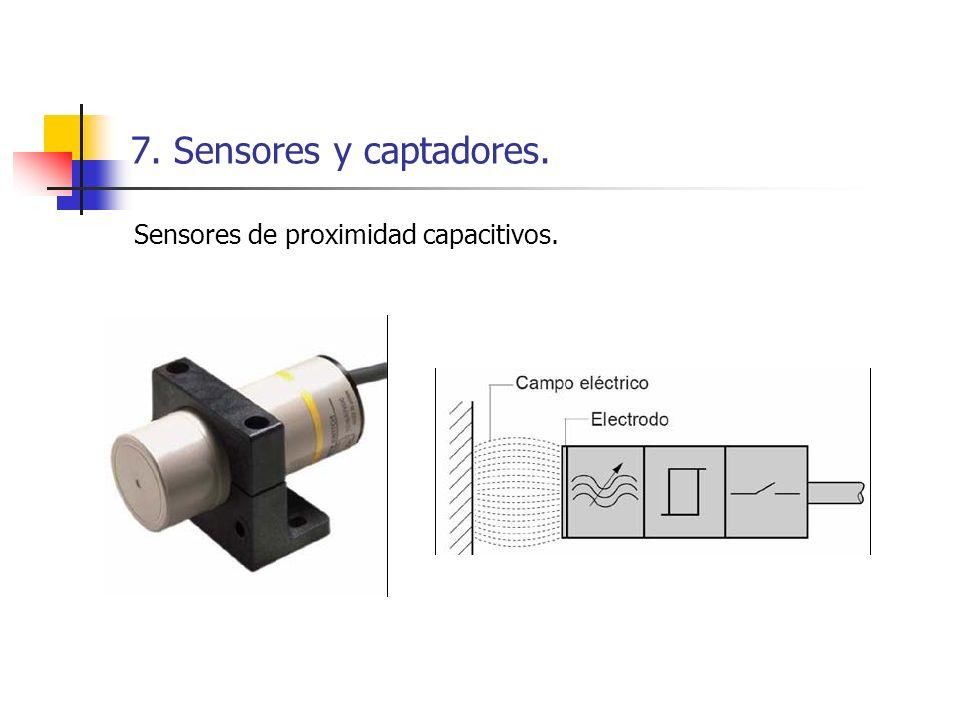 7. Sensores y captadores. Sensores de proximidad capacitivos.