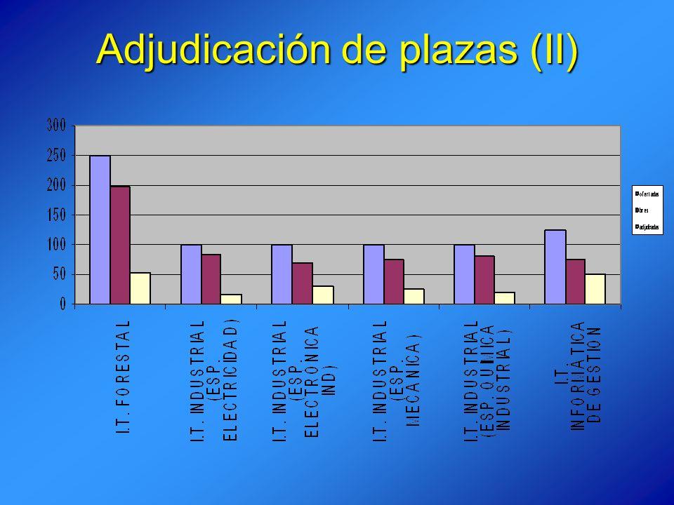 Adjudicación de plazas (II)