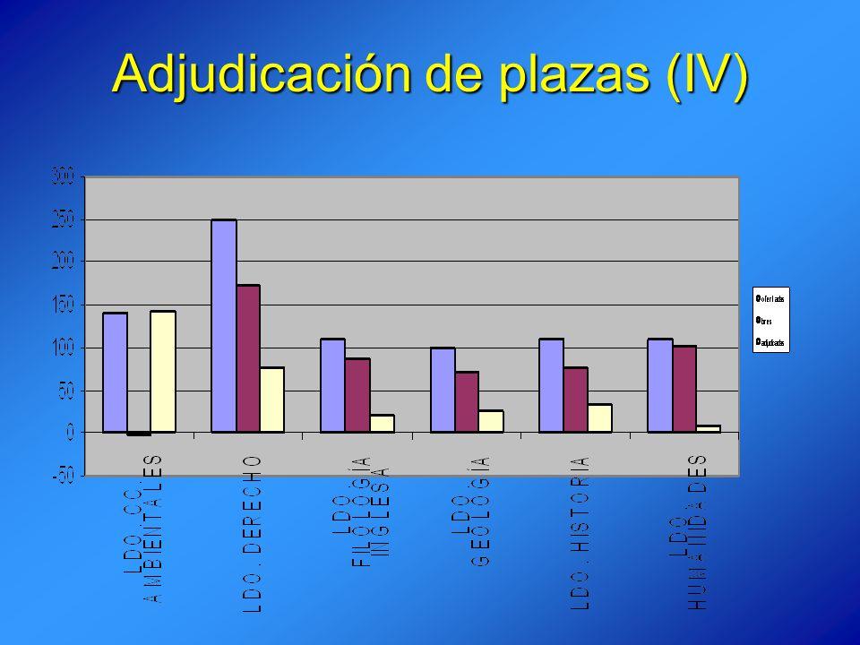 Adjudicación de plazas (IV)