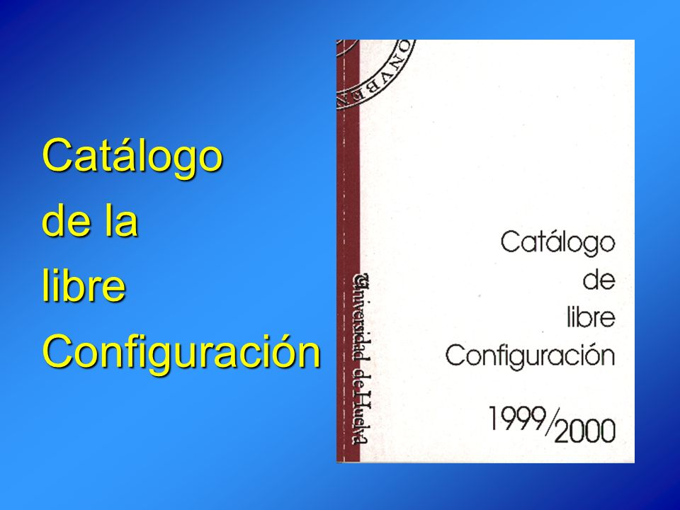 Catálogo de la libre Configuración