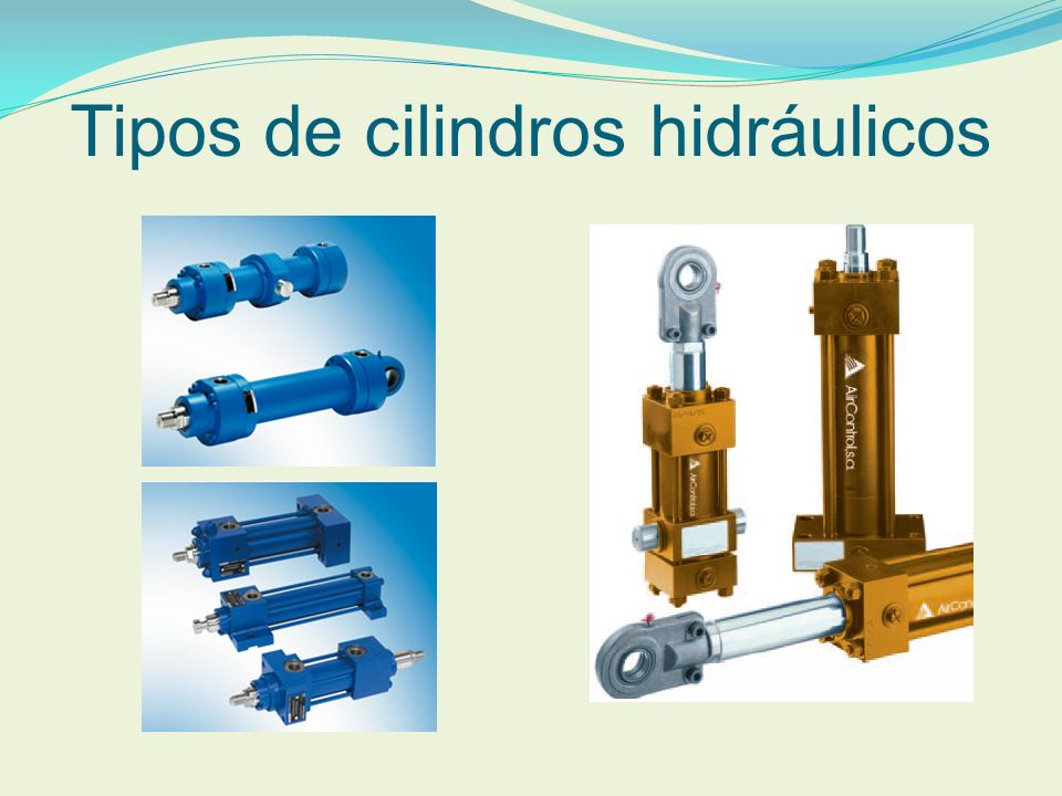 Tipos de cilindros hidráulicos