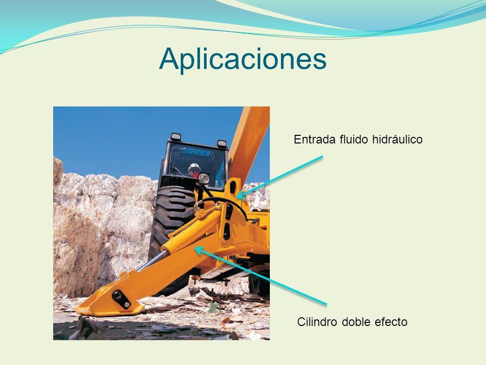 Aplicaciones Cilindro doble efecto Entrada fluido hidráulico