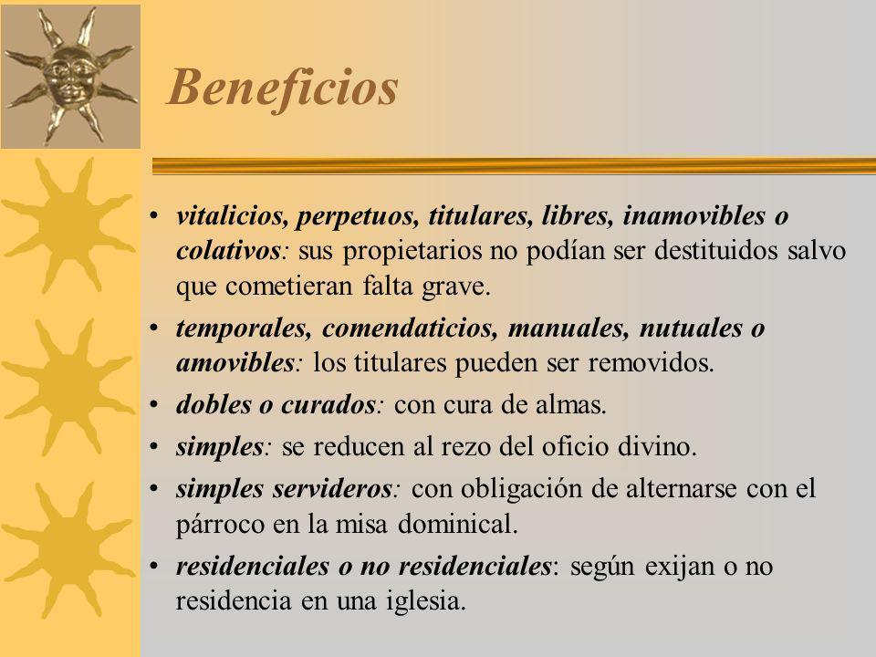 Estamento eclesiástico.Bajo clero Diferencia entre beneficiados y no beneficiados.