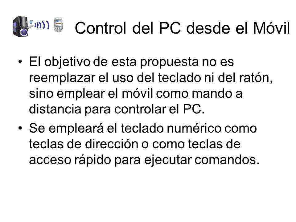 El objetivo de esta propuesta no es reemplazar el uso del teclado ni del ratón, sino emplear el móvil como mando a distancia para controlar el PC.