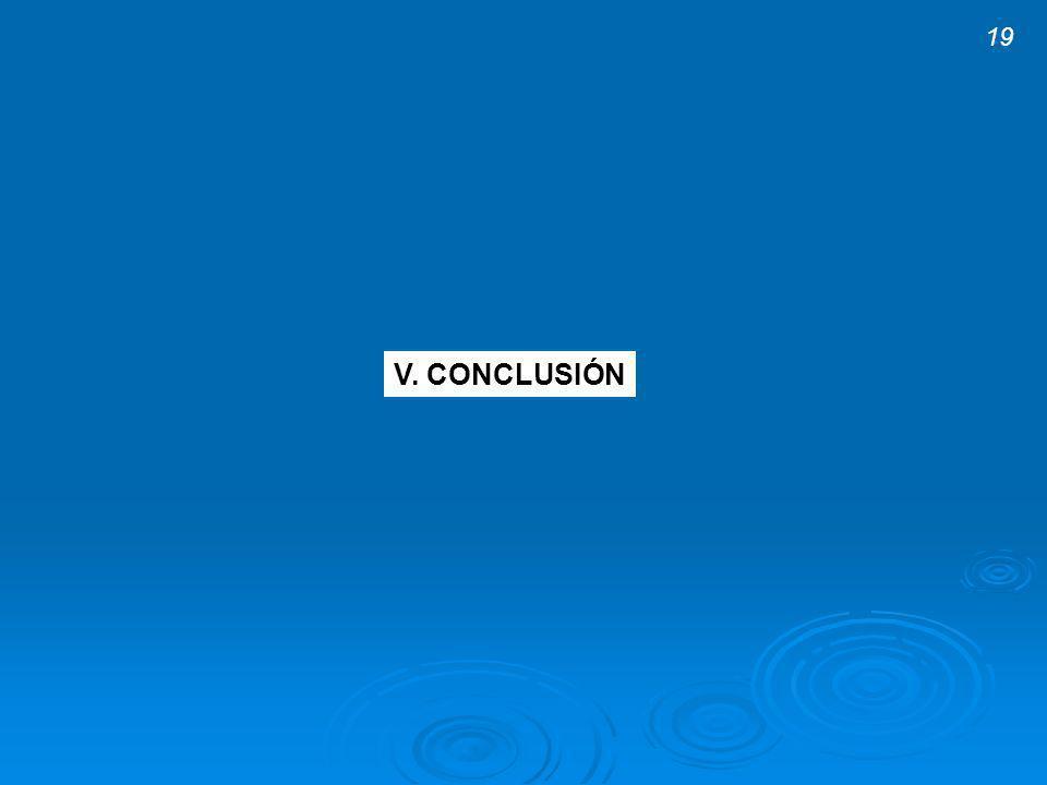 V. CONCLUSIÓN 19