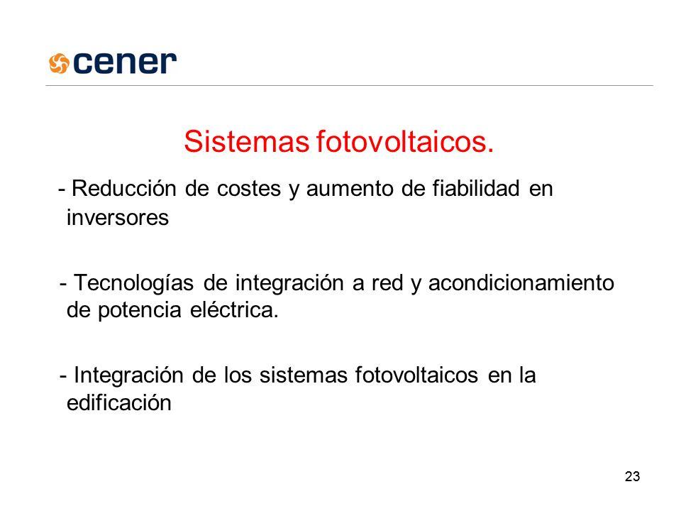 23 Sistemas fotovoltaicos.