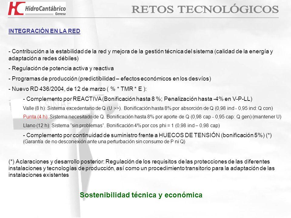 INTEGRACIÓN EN LA RED - Contribución a la estabilidad de la red y mejora de la gestión técnica del sistema (calidad de la energía y adaptación a redes