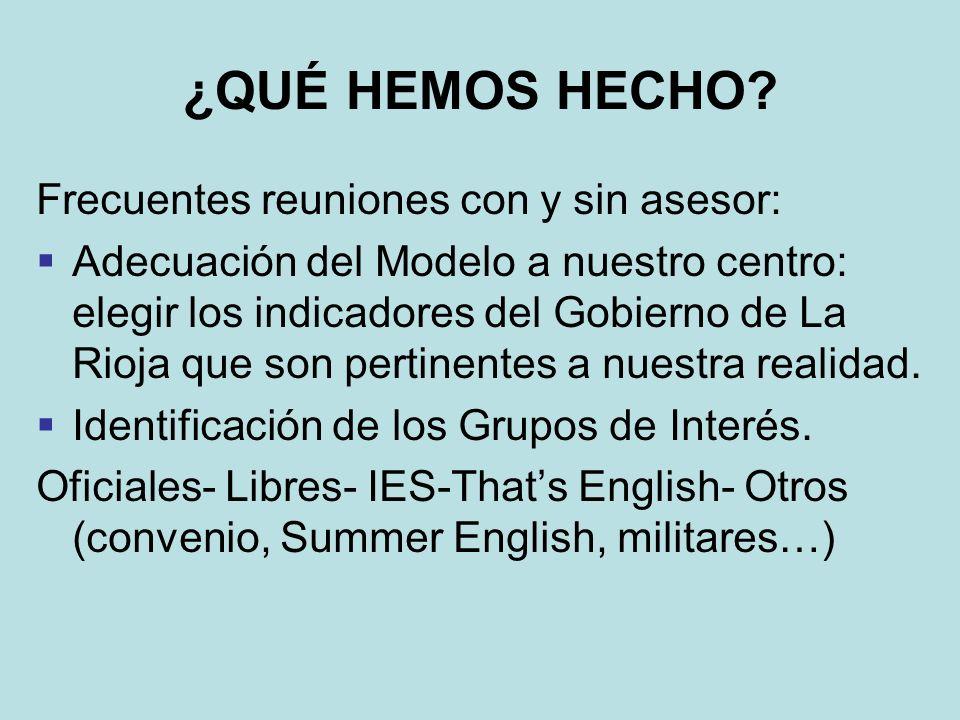 ¿QUÉ HEMOS HECHO.