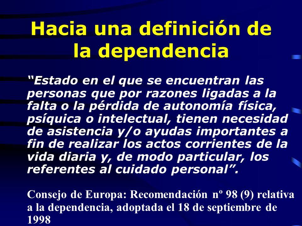 Deficiencias Discapacidad Dependencia Deficiencias, Discapacidad y Dependencias Dependencia importante