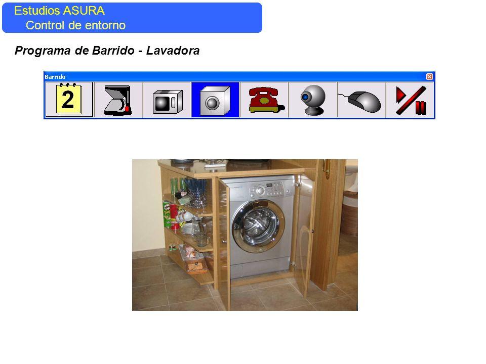 Estudios ASURA Control del entorno Estudios ASURA Control de entorno Programa de Barrido - Lavadora
