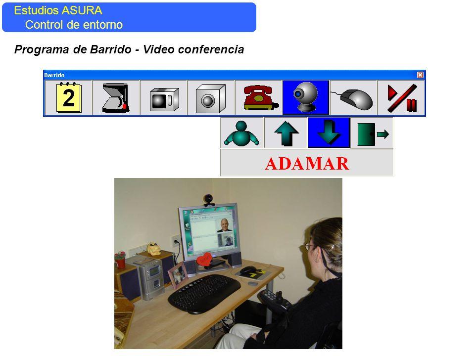 Estudios ASURA Control del entorno Estudios ASURA Control de entorno Programa de Barrido - Video conferencia