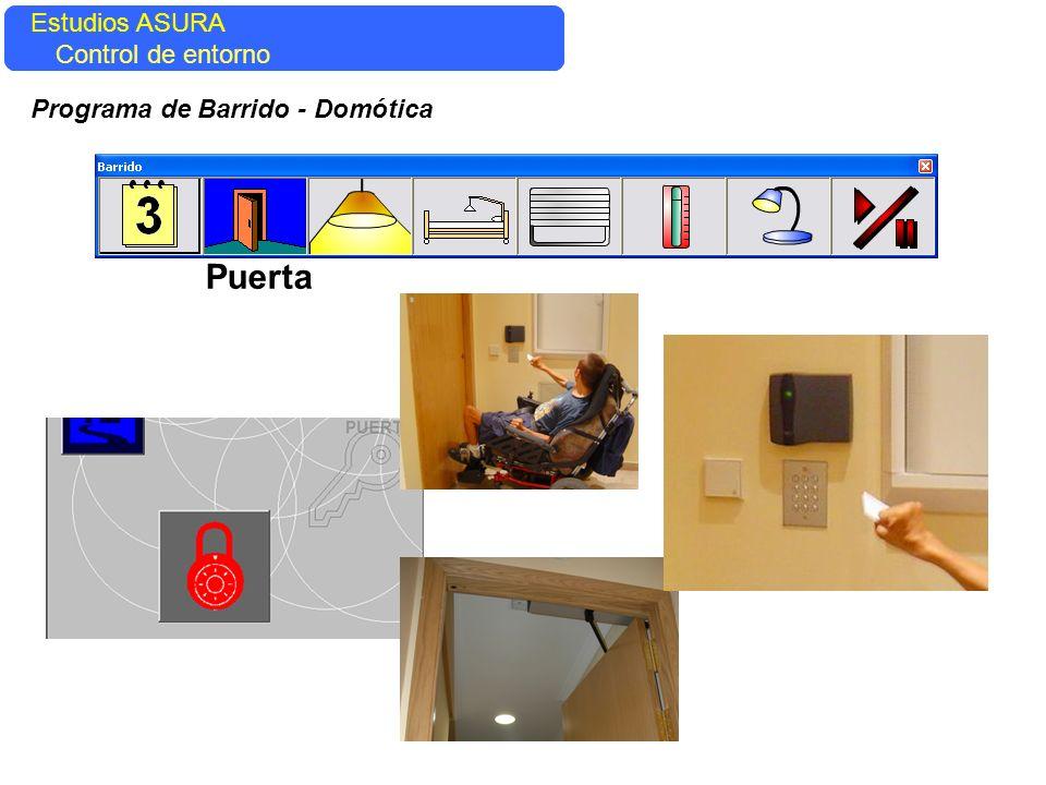 Estudios ASURA Control del entorno Estudios ASURA Control de entorno Programa de Barrido - Domótica Puerta