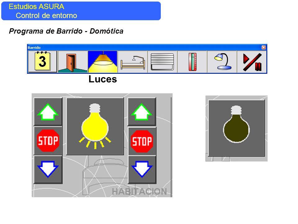 Estudios ASURA Control del entorno Estudios ASURA Control de entorno Programa de Barrido - Domótica Luces