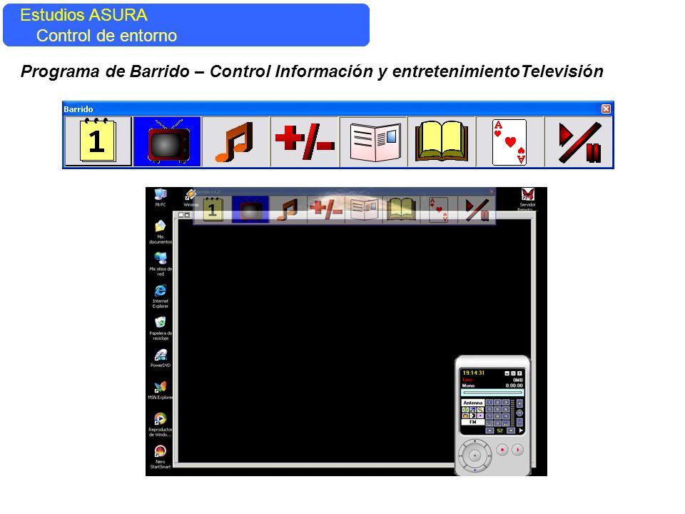Estudios ASURA Control del entorno Estudios ASURA Control de entorno Programa de Barrido – Control Información y entretenimientoTelevisión