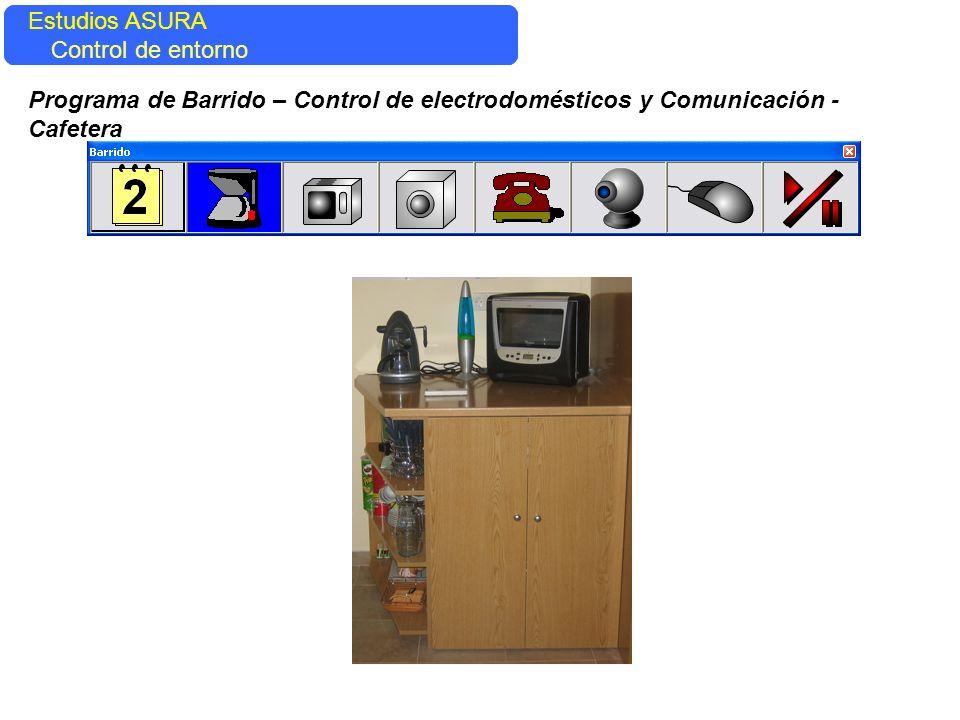 Estudios ASURA Control del entorno Estudios ASURA Control de entorno Programa de Barrido – Control de electrodomésticos y Comunicación - Cafetera