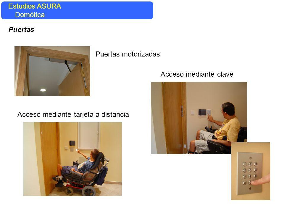 Puertas motorizadas Acceso mediante tarjeta a distancia Acceso mediante clave Estudios ASURA Domótica Puertas