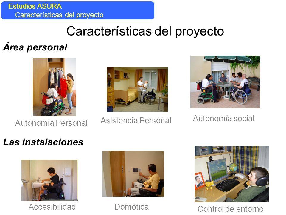 Autonomía Personal Asistencia Personal Las instalaciones Accesibilidad Características del proyecto Área personal Autonomía social Control de entorno