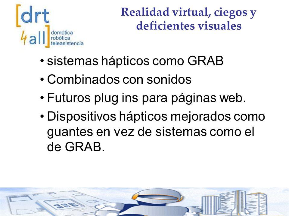 Realidad virtual, ciegos y deficientes visuales sistemas hápticos como GRAB Combinados con sonidos Futuros plug ins para páginas web.