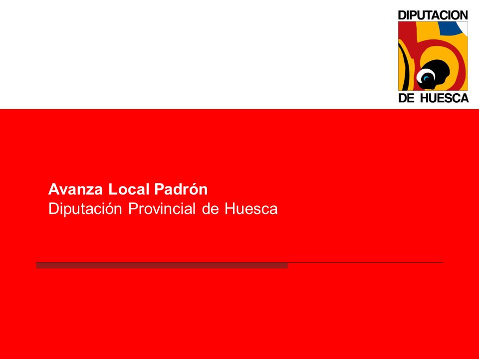 Avanza Local Padrón Diputación Provincial de Huesca