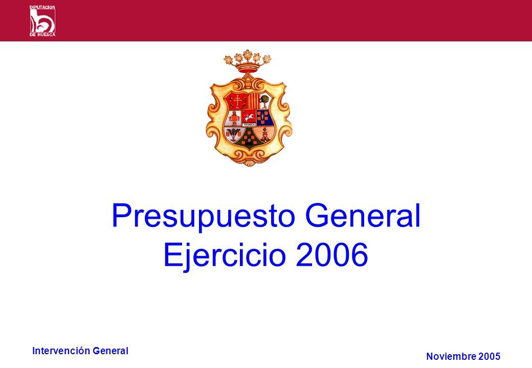 Intervención General Presupuesto General Ejercicio 2006 Noviembre 2005