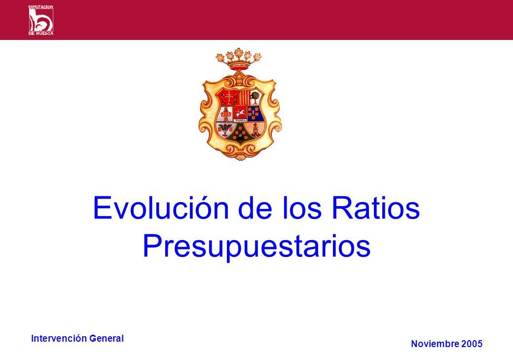 Intervención General Evolución de los Ratios Presupuestarios Noviembre 2005