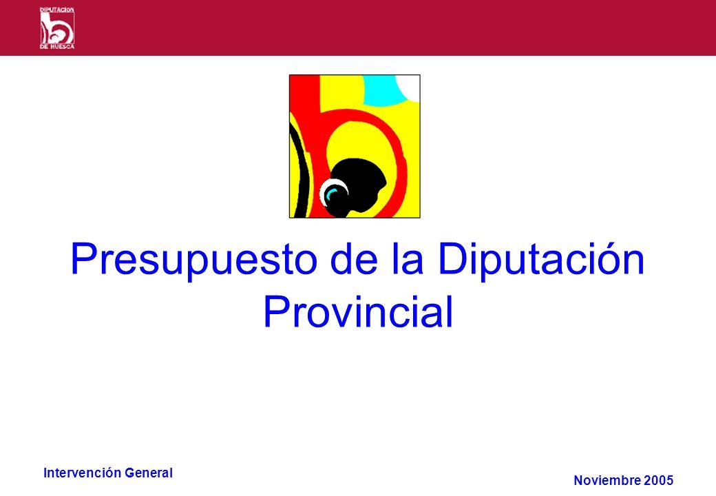 Intervención General Presupuesto de la Diputación Provincial Noviembre 2005