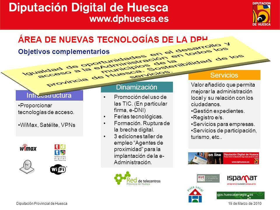 Diputación Digital de Huesca Diputación Provincial de Huesca19 de Marzo de 2010 CÓMO Aprovechar los recursos.