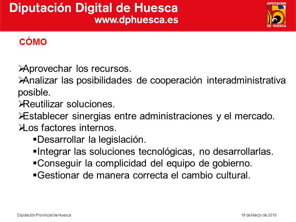 Diputación Provincial de Huesca19 de Marzo de 2010 Diputación Digital de Huesca Muchas gracias por su atenci ó n Cristina de la Hera Pascual Asesora T é cnica NN.TT.