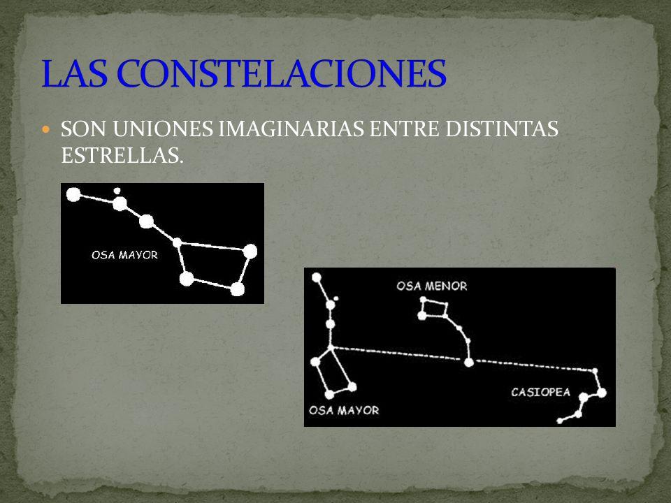 SON UNIONES IMAGINARIAS ENTRE DISTINTAS ESTRELLAS.