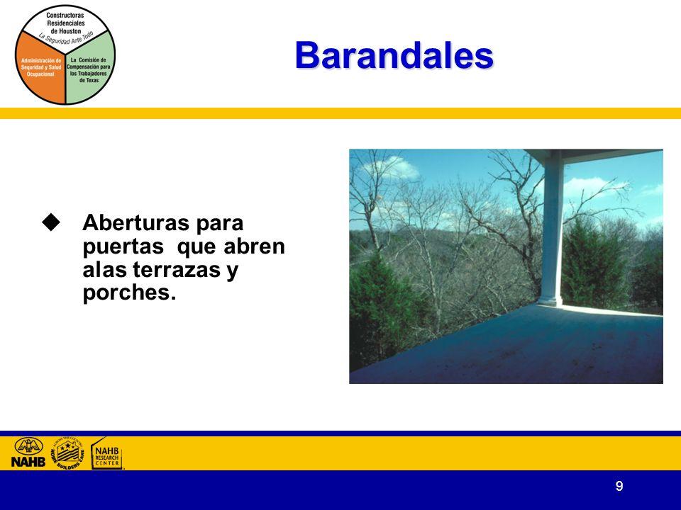 9 Barandales Aberturas para puertas que abren alas terrazas y porches.