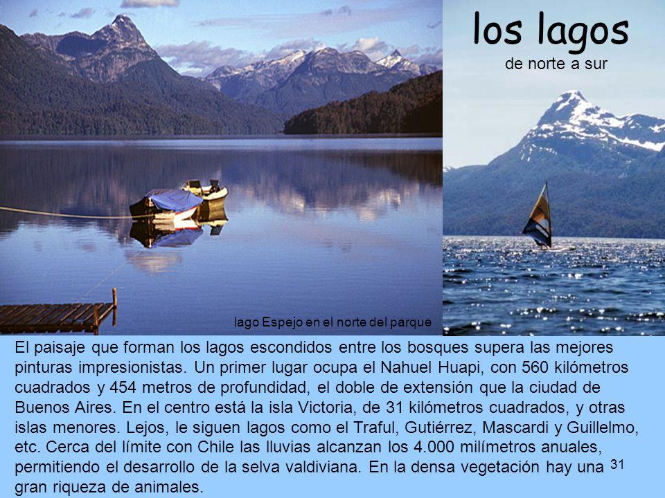 31 lago Espejo en el norte del parque El paisaje que forman los lagos escondidos entre los bosques supera las mejores pinturas impresionistas. Un prim