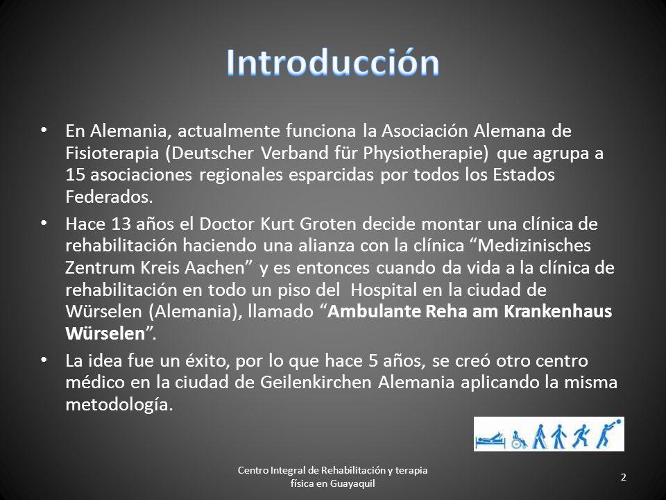 Centro Integral de Rehabilitación y terapia física en Guayaquil 1 Ambulante Reha am Krankenhaus GmbH - Würselen