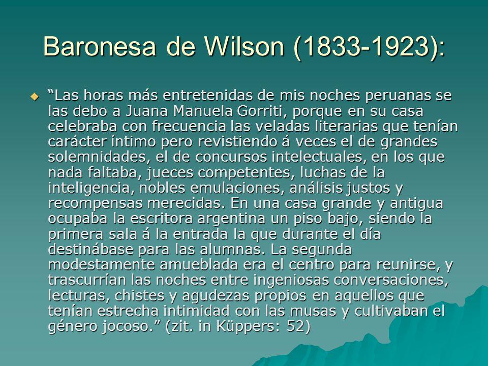 Mercedes Cabello de Carbonera (Peru, 1845-1909) 1885 Tod des Ehemannes 1885 Tod des Ehemannes 1.