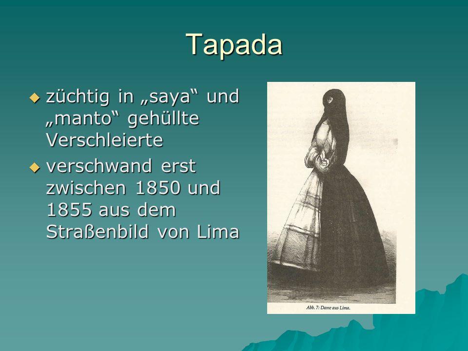 Triade: Mätresse, Heilige, Märtyrerin La Perricholi: La Perricholi: –Kurtisane und Schauspielerin – bürgerl.